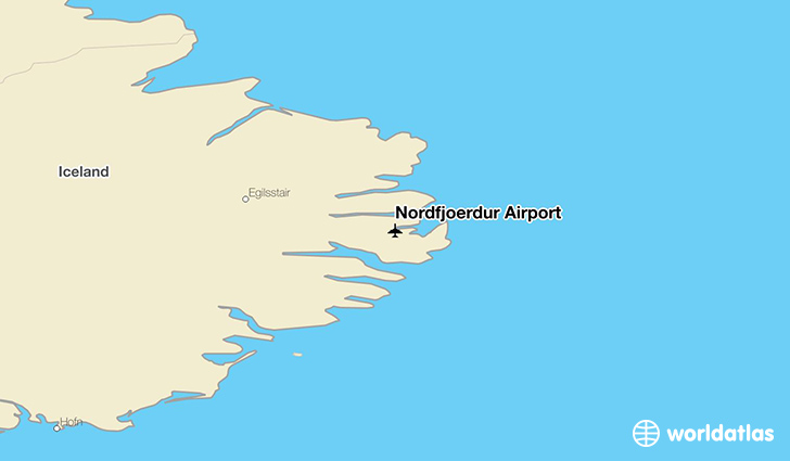 Norðfjörður Airport location on a map