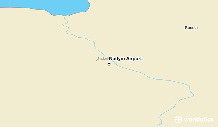 Nadym Airport location on a map