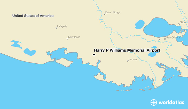 Harry P Williams Memorial Airport location on a map