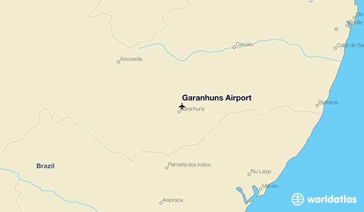 Garanhuns Airport location on a map