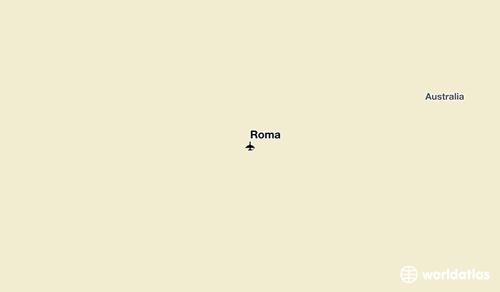 Roma location on a map