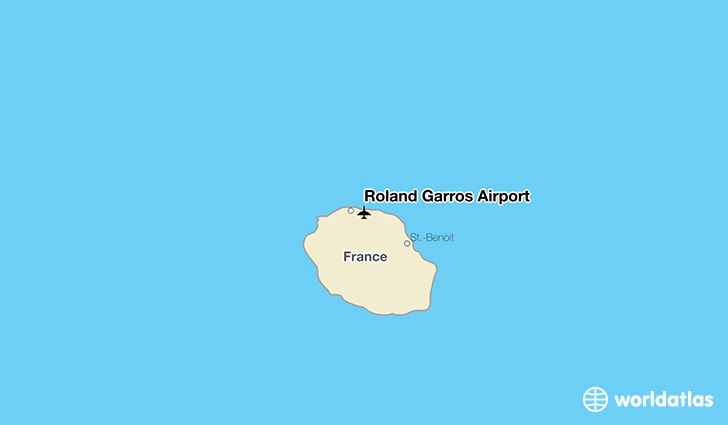 Roland Garros Airport location on a map