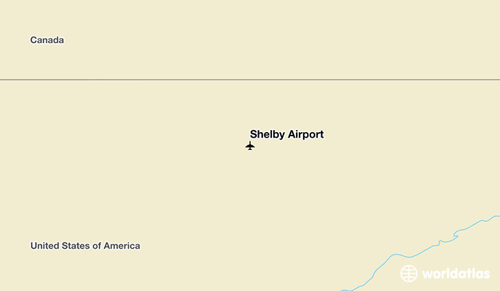 Shelby Airport location on a map
