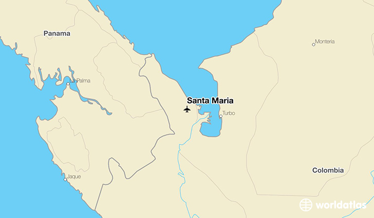 Santa Maria location on a map