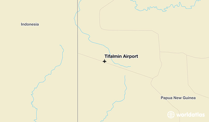 Tifalmin Airport location on a map