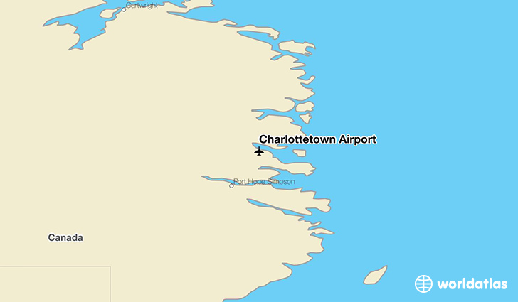 Charlottetown Airport location on a map
