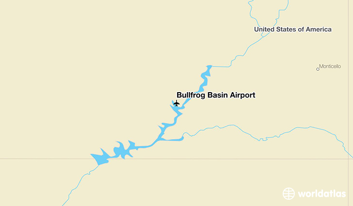Bullfrog Basin Airport location on a map