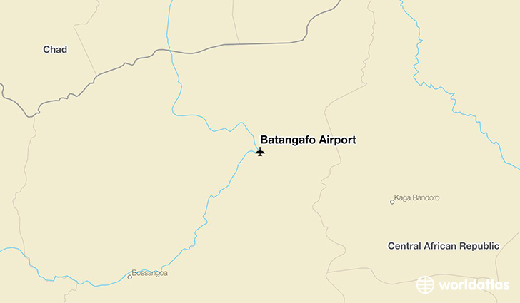 Batangafo Airport location on a map