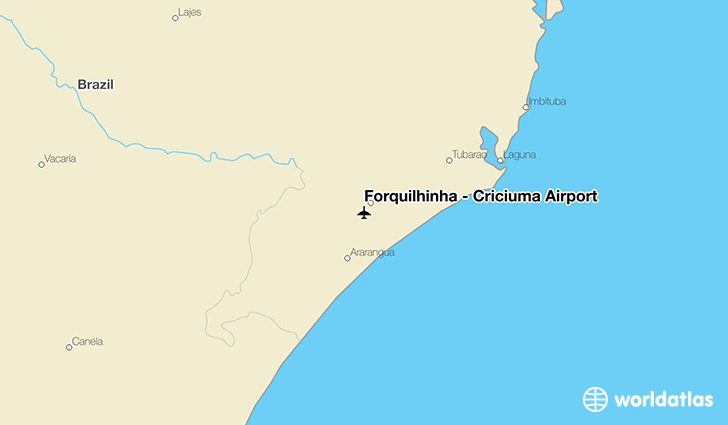 Forquilhinha - Criciúma Airport location on a map
