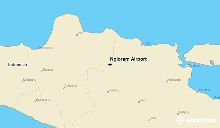 Ngloram Airport location on a map