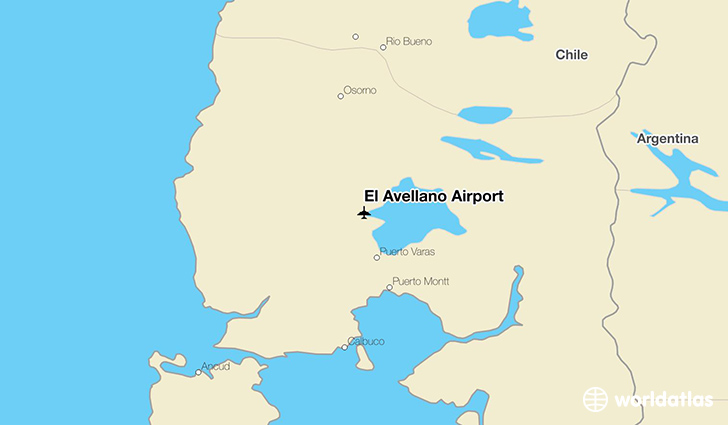 El Avellano Airport location on a map