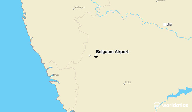 Belgaum Airport location on a map