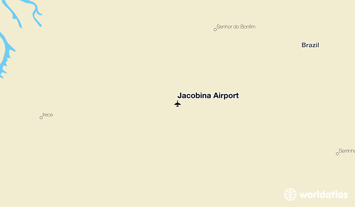 Jacobina Airport location on a map