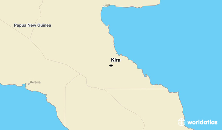 Kira location on a map