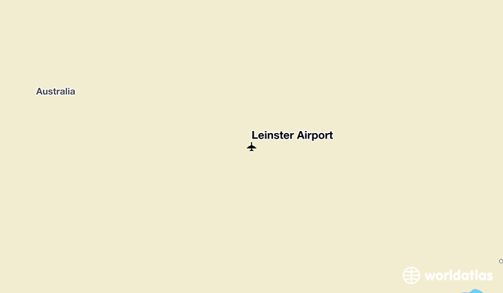 Leinster Airport location on a map