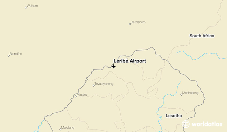 Leribe Airport location on a map
