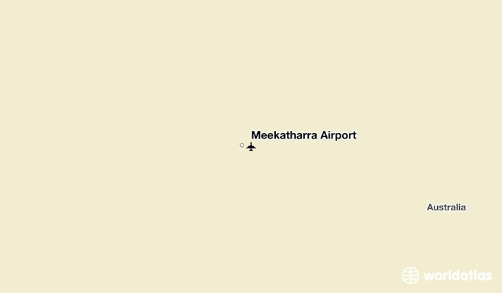 Meekatharra Airport location on a map