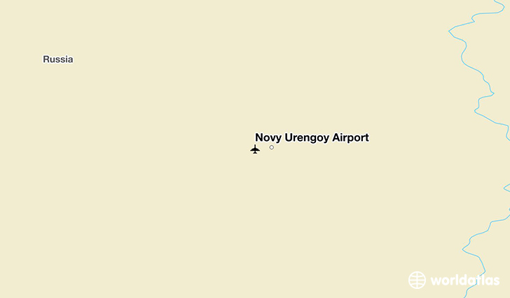 Novy Urengoy Airport location on a map
