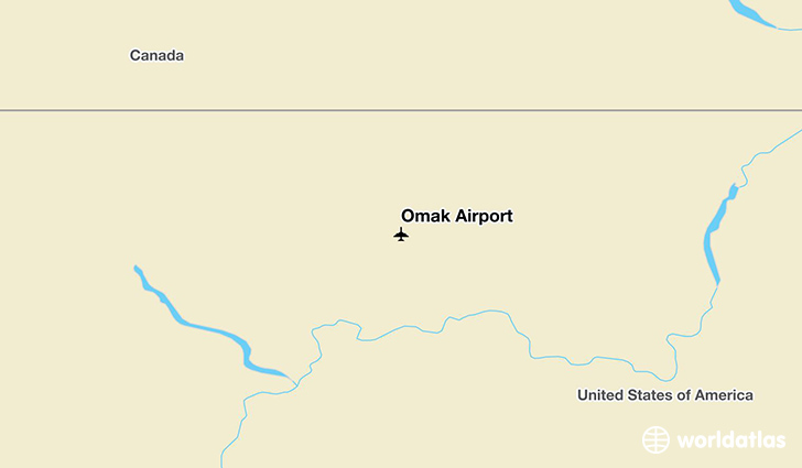 Omak Airport location on a map