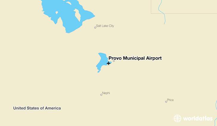 Provo Municipal Airport location on a map