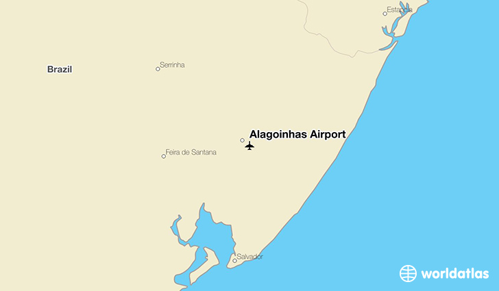 Alagoinhas Airport location on a map