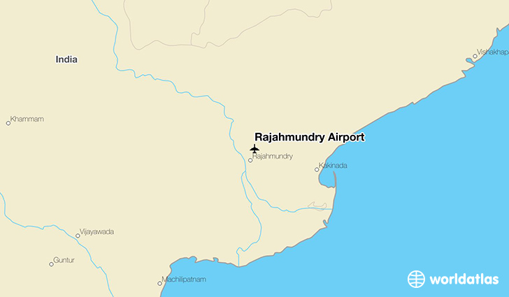 Rajahmundry Airport location on a map