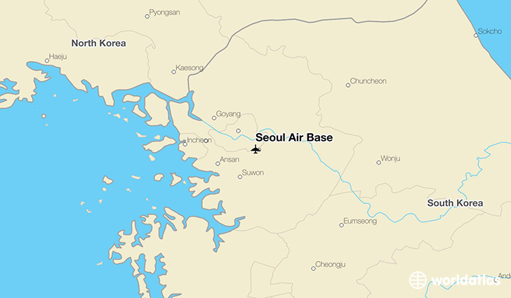 Seoul Air Base location on a map