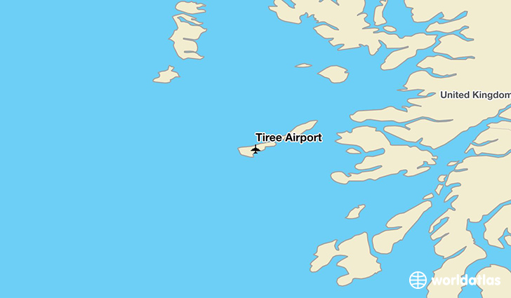 Tiree Airport location on a map