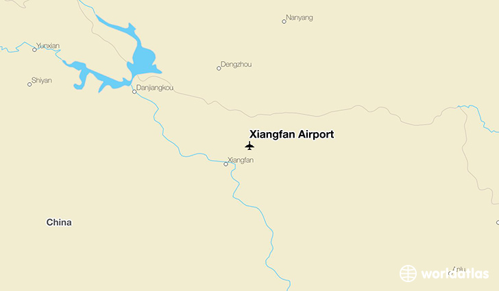Xiangfan Airport location on a map