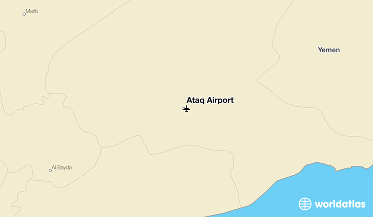 Ataq Airport location on a map