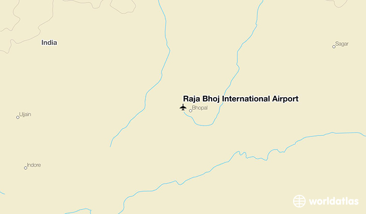 Raja Bhoj International Airport location on a map