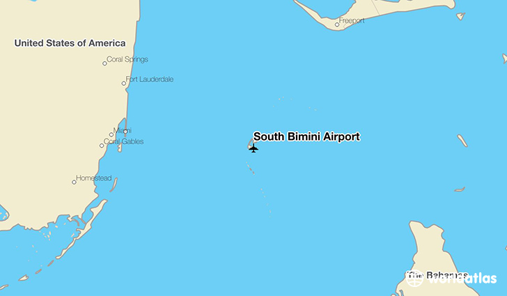South Bimini Airport location on a map