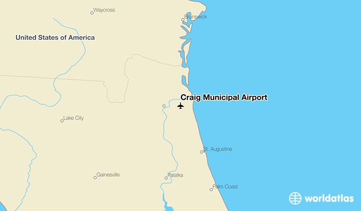 Craig Municipal Airport location on a map