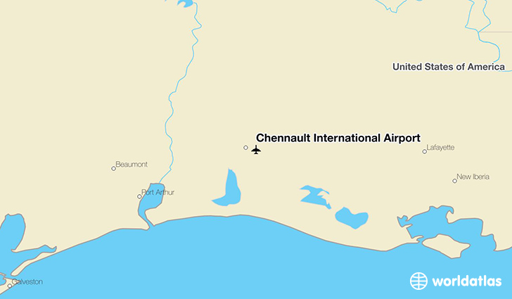 Chennault International Airport location on a map