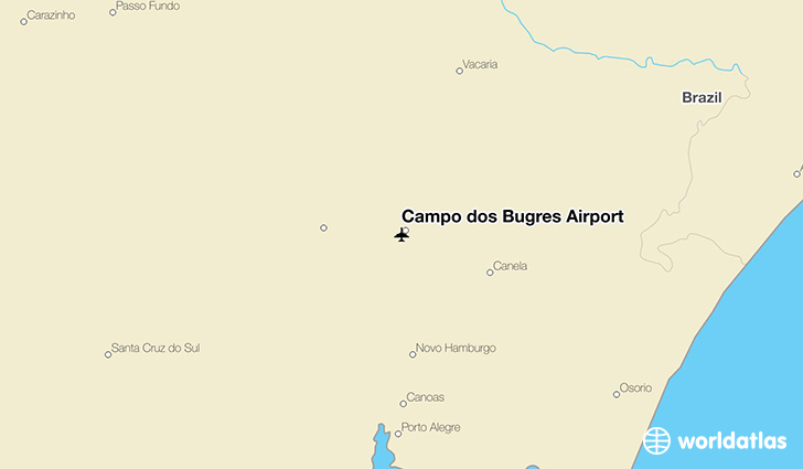 Campo dos Bugres Airport location on a map