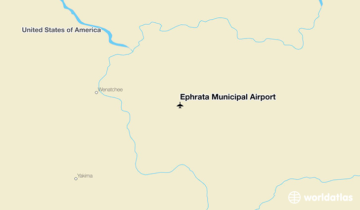 Ephrata Municipal Airport location on a map