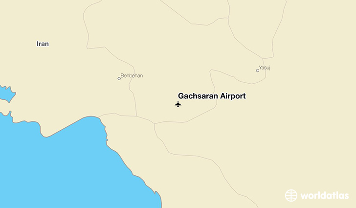 Gachsaran Airport location on a map