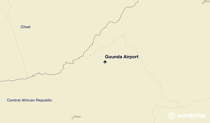 Gounda Airport location on a map