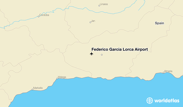 Federico García Lorca Airport location on a map