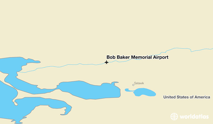 Bob Baker Memorial Airport location on a map