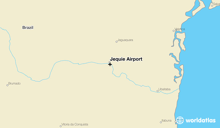 Jequié Airport location on a map