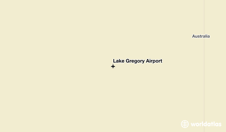 Lake Gregory Airport location on a map