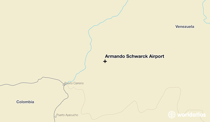Armando Schwarck Airport location on a map