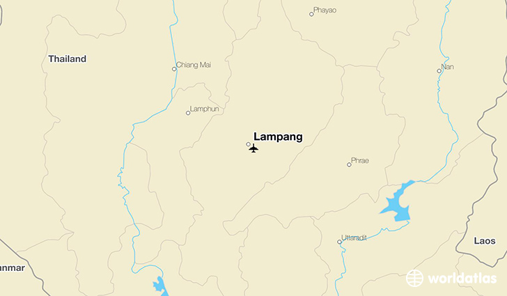 Lampang location on a map