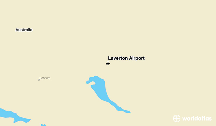 Laverton Airport location on a map