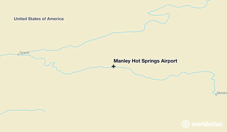 Manley Hot Springs Airport location on a map