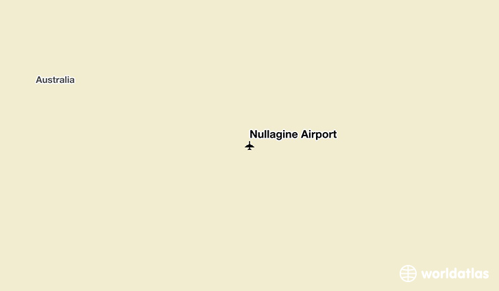 Nullagine Airport location on a map