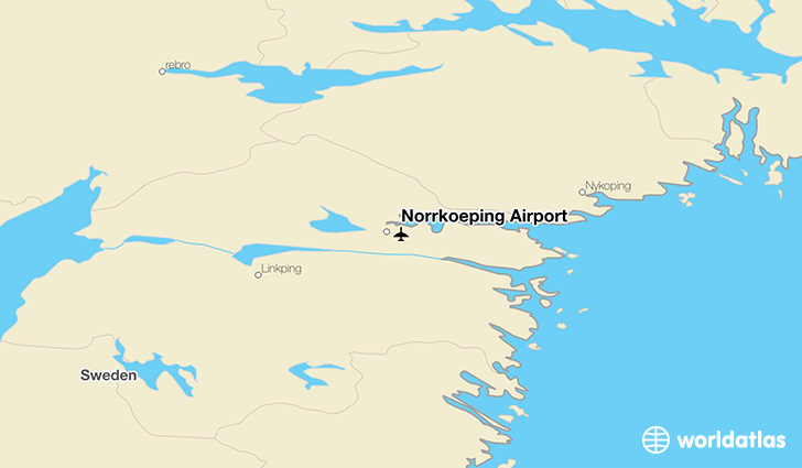 Norrköping Airport location on a map