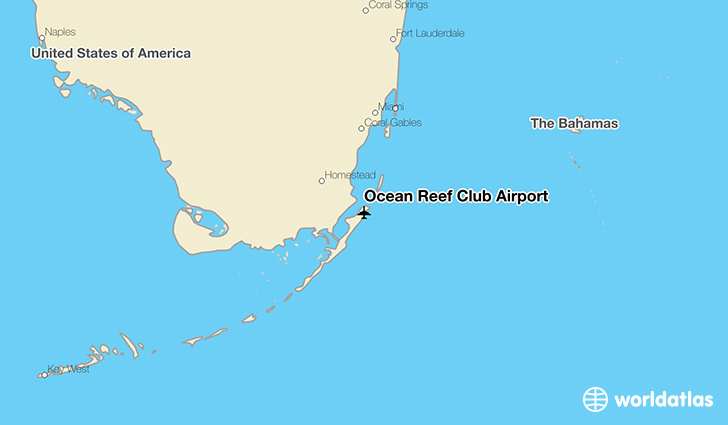 Ocean Reef Club Airport location on a map