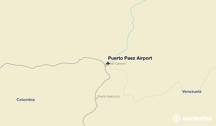 Puerto Paez Airport location on a map